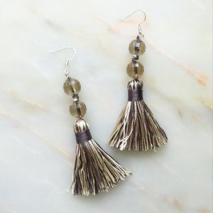 Jewelry - 🔸 Smokey Crystal Tassel Earrings